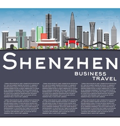 Shenzhen Skyline with Gray Buildings vector image