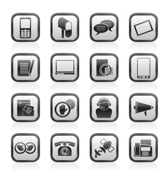 Contact and communication icons vector