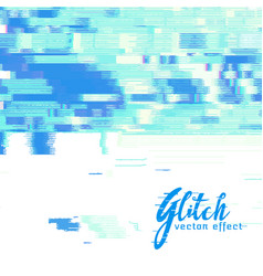 Image glitch background vector