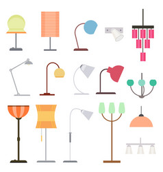 Colorful indoor lights collection vector