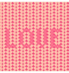 Knitted Love inscription seamless pattern vector image