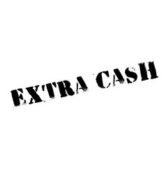 extra cash rubber stamp vector image