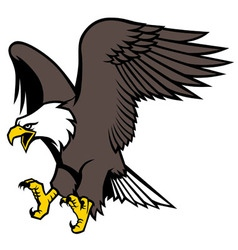 Flying eagle mascot vector