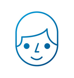 Cartoon man face character worker image vector