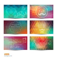 Grunge banner abstract header background set tri vector