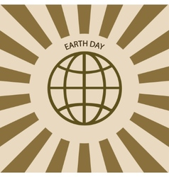 Modern april 22 earth day background vector