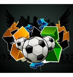 football graffiti vector image