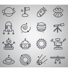 Space icon set vector image