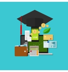 Financial education money management cost vector