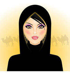 Arab woman vector