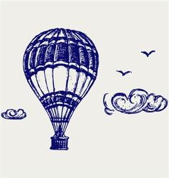 Balloon sketch vector image