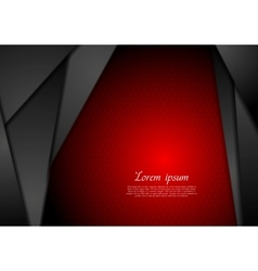 Abstract dark tech background vector image vector image