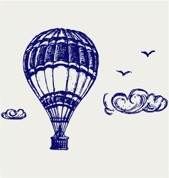 Balloon sketch vector image vector image