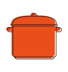 big pot kitchenware icon image vector image vector image