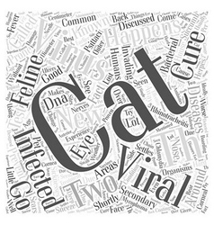 Cat viral infections and their cures word cloud vector