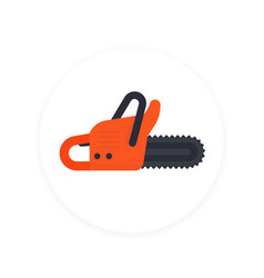 chainsaw icon vector image vector image