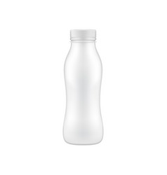 clean drinking bottle mock up vector image