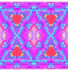 Colorful glitch kaleidoscopic seamless pattern vector