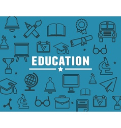 Concept of education with elements vector image
