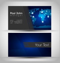 Elegant business card front and back side vector