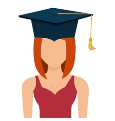 Female student graduation avatar profile vector