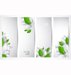 four headers vector image vector image