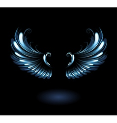Glowing angel wings vector