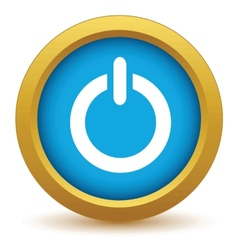 Gold power icon vector image