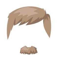 Hairstyles beard and hair face cut mask flat vector image vector image