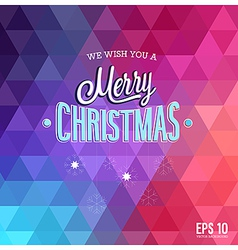 Hipster blur christmas vector image