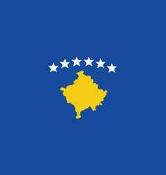 Kosovo flag for independence day and infographic vector