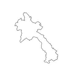 Laos map silhouette vector