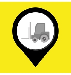 Lift truck isolated icon design vector