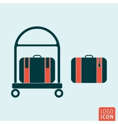 Luggage icon isolated vector image vector image