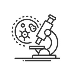 medical laboratory - line design single isolated vector image vector image