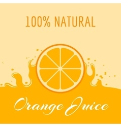 Natural orange juice label teplate vector image vector image
