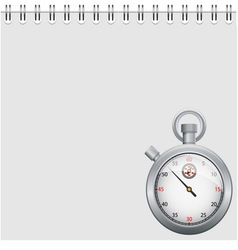 Note and stopwatch vector image vector image