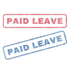 Paid leave textile stamps vector