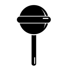 round lollipop icon simple black style vector image