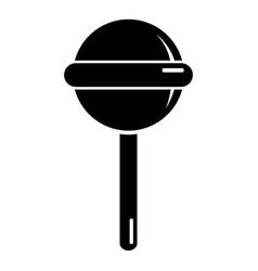 round lollipop icon simple black style vector image vector image