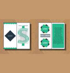 set of brochure flyer design layout template size vector image vector image