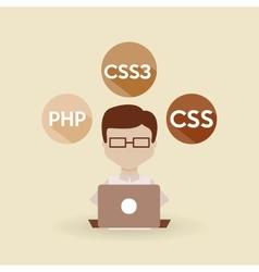 Software programming design vector