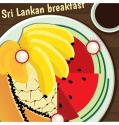Sri lankan breakfast vector