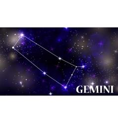 Symbol gemini zodiac sign vector