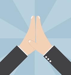 Two businessmen hands giving a high five vector