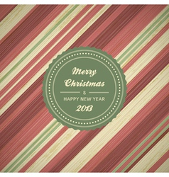 vintage christmas card background vector image vector image