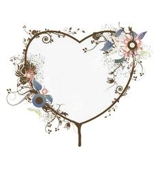 vintage floral frame vector image vector image