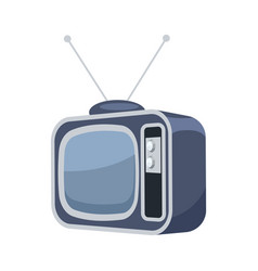 vintage tv set isolated icon vector image