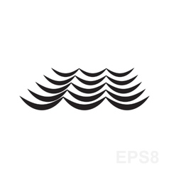 Wave Black And White Icon vector image