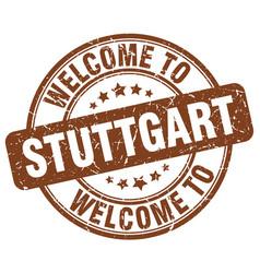 Welcome to stuttgart brown round vintage stamp vector